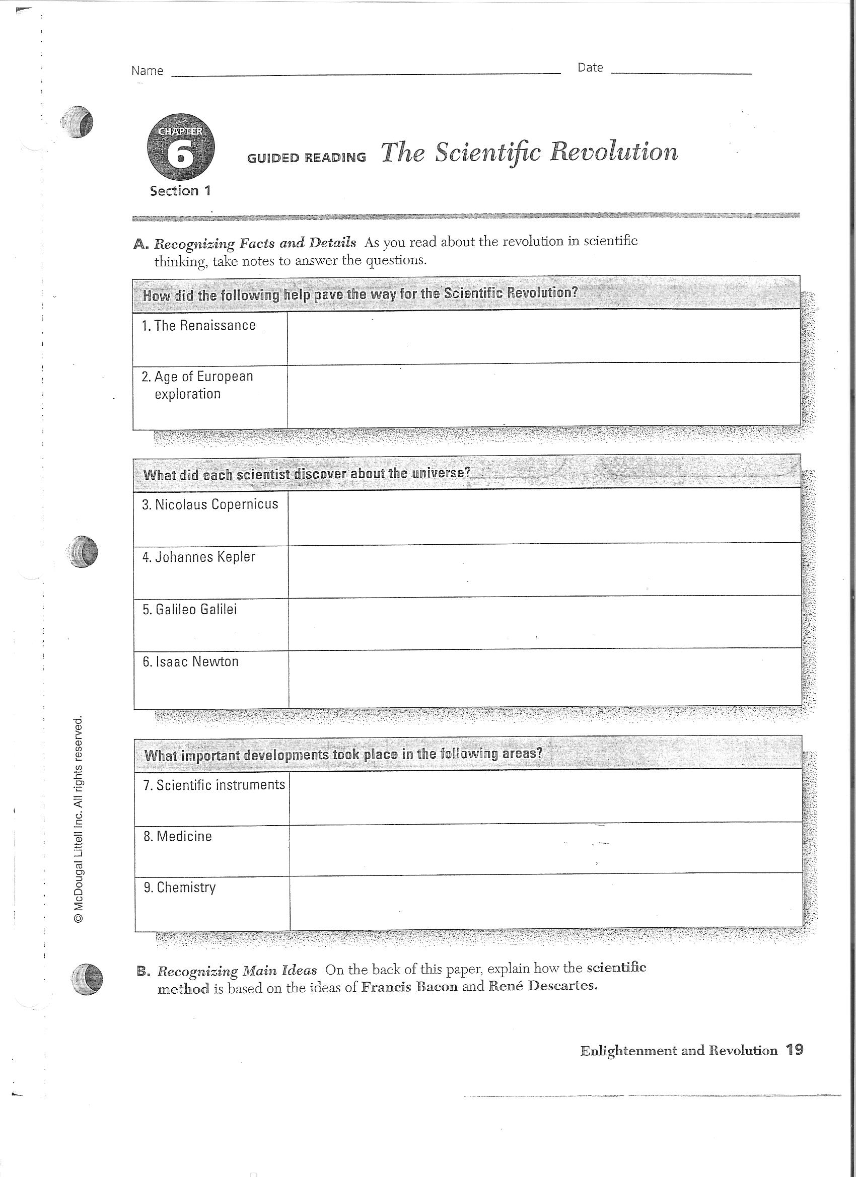 Printables Scientific Revolution Worksheet world history healdsburg high school download file